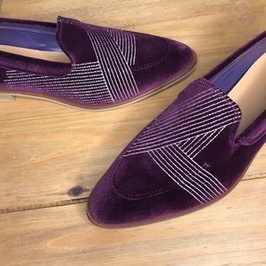 Everlane velvet Modern loafer maroon burgundy 11